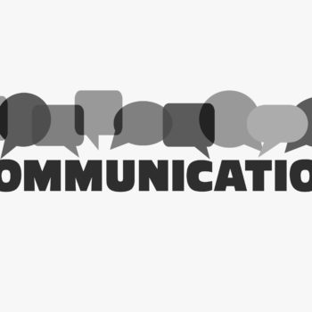 """Word """"communication"""" with colorful dialog speech bubbles. Communication vector concept"""